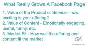 What really grows a Facebook page - infographic
