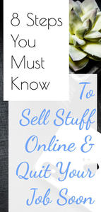 8 steps to replace your job by selling products online, text overlaid