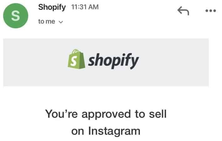 Screenshot of Shopify store approved for Instagram Product Tagging after being disapproved